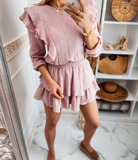 Sukienka muślinowa MATYLDA pink