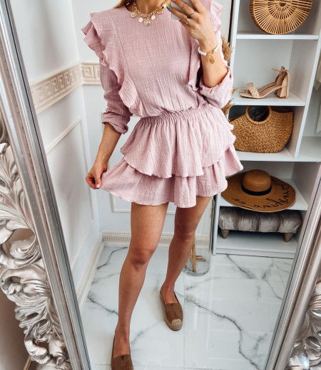 Sukienka muślinowa MATYLDA pink 1