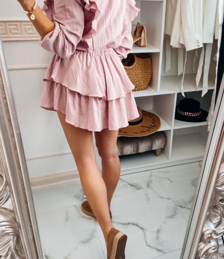 Sukienka muślinowa MATYLDA pink 2