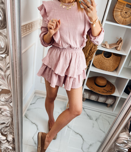 Sukienka muślinowa MATYLDA pink 3