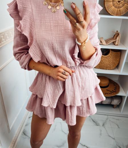 Sukienka muślinowa MATYLDA pink 4
