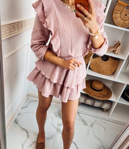 Sukienka muślinowa MATYLDA pink 5