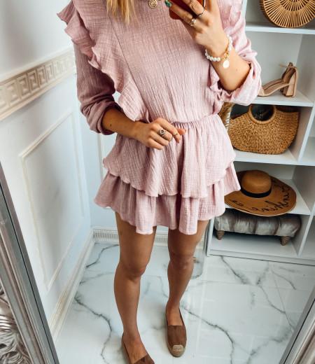 Sukienka muślinowa MATYLDA pink 6