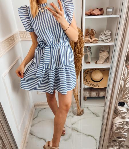 Sukienka STRIPES BLUE white 1