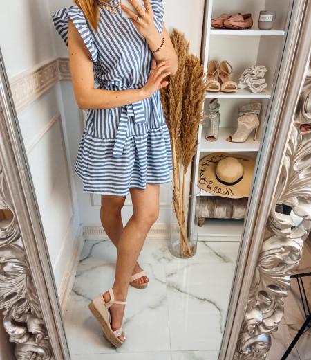 Sukienka STRIPES BLUE white 2