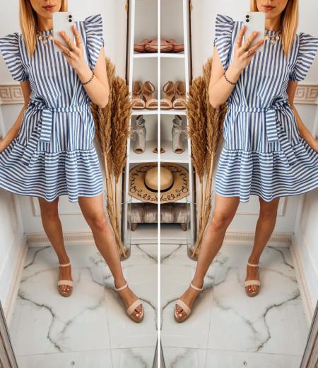 Sukienka STRIPES BLUE white 3