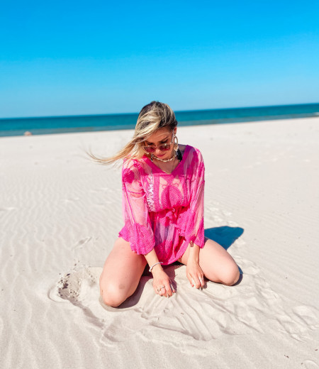 Bluzka boho CANCUN pink 1