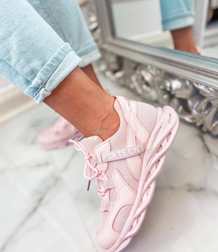 Sneakersy ART pink 2