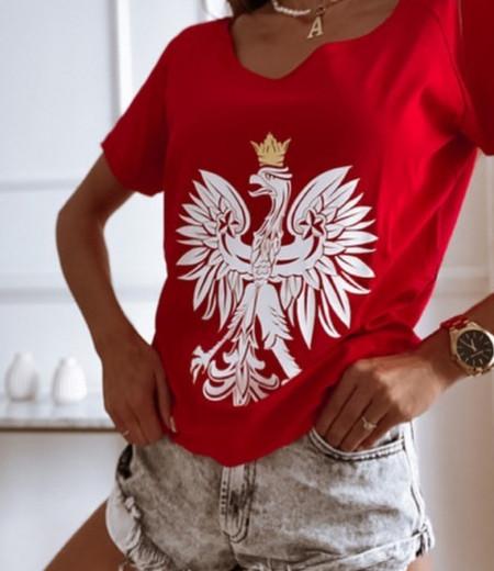 T-shirt z orzełkiem RED 1