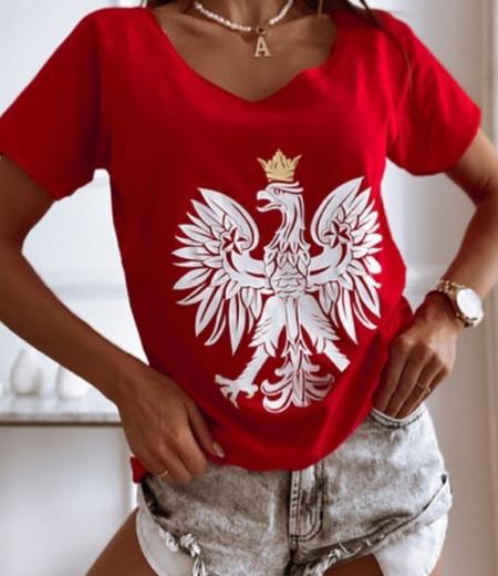 T-shirt z orzełkiem RED 2