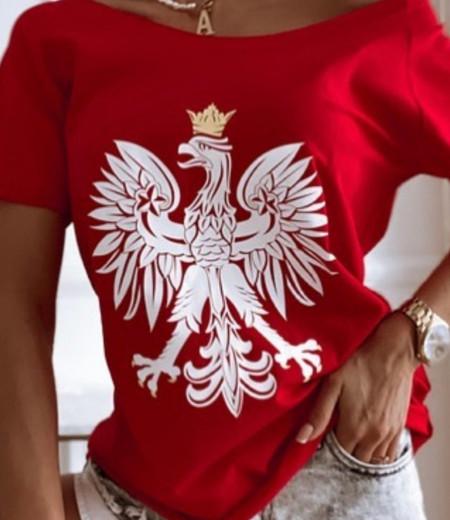 T-shirt z orzełkiem RED