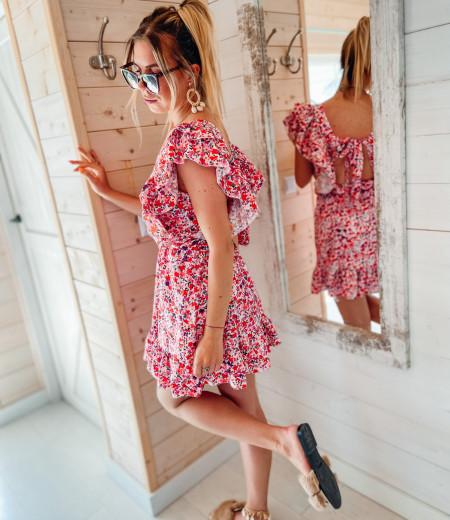 Sukienka FLOWERS pink 2