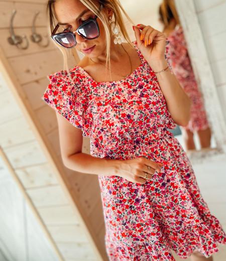 Sukienka FLOWERS pink 3