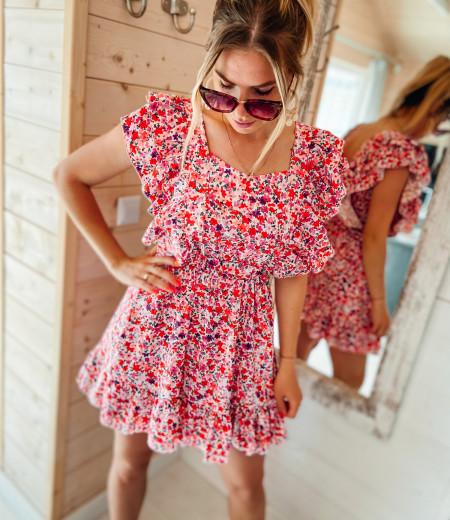 Sukienka FLOWERS pink 5